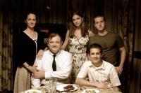 BLACK IRISH, standing: Melissa Leo, Emily VanCamp, Tom Guiry, seated: Brendan Gleeson, Michael Angarano, 2007. ©Palisades Pictures