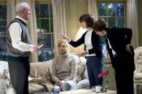 BEWITCHED, Michael Caine, Nicole Kidman, director Nora Ephron on set, 2005, (c) Columbia