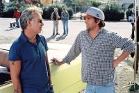 THE BAD NEWS BEARS, Billy Bob Thornton, director Richard Linklater on set, 2005, (c) Paramount