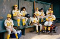 THE BAD NEWS BEARS, Tyler Patrick Jones, Sammi Kane Kraft, Jeffrey Tedmori, Kenneth K.C. Harris, Ridge Canipe, Timmy Deters, Brandon Craggs, Troy Gentile, 2005, (c) Paramount