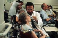 AWAKENINGS, Alice Drummond (in wheelchair front), Robin Williams (in lab coat), 1990, (c) Columbia