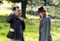 ATONEMENT, director Joe Wright, Keira Knightley, on set, 2007. ©Focus Features