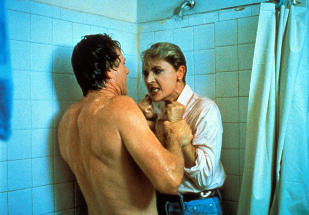 ARIZONA HEAT, from left: Michael Parks, Denise Crosby, 1988. ©Overseas Film Group