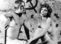 ANDY WARHOL'S DRACULA, (aka DRACULA CERCA SANGUE DI VERGINE...E MORI DI  SETE!!!; BLOOD FOR DRACULA;  YOUNG DRACULA), from left: Joe Dallesandro, Stefania Casini, 1974