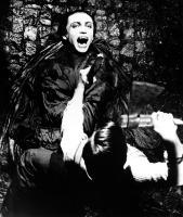 ANDY WARHOL'S DRACULA, (aka DRACULA CERCA SANGUE DI VERGINE...E MORI DI  SETE!!!; BLOOD FOR DRACULA;  YOUNG DRACULA), top to bottom: Udo Kier, Joe Dallesandro, 1974