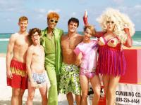 ANOTHER GAY SEQUEL: GAYS GONE WILD!, from left: Jake Mosser, Aaron Michael Davies, RuPaul, Jimmy Clabots, Jonah Blechman, The Lady Bunny, 2008. ©TLA