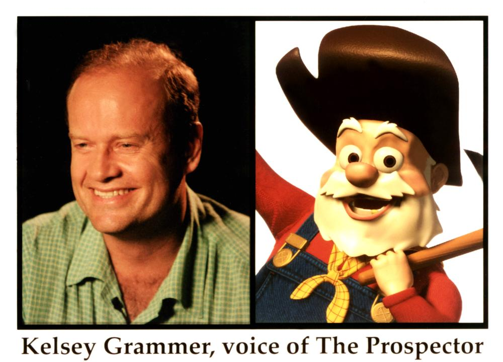 TOY STORY 2, Kelsey Grammer as Pete the Prospector, 1999