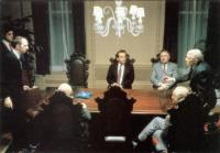 PRIZZI'S HONOR, Jack Nicholson, (center), William Hickey, (far right), 1985, TM & Copyright (c) 20th Century Fox Film Corp. All rights reserved.