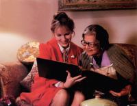 NEW YORK STORIES, from left: Mia Farrow, Mae Questel, 1989. ©Buena Vista