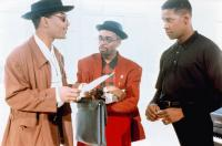 MO' BETTER BLUES, from left: Giancarlo Esposito, Spike Lee, Denzel Washington, 1990. ©Universal Pictures