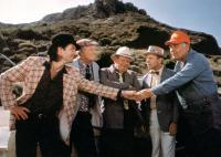 THE LONGSHOT, Ted Wass, Harvey Korman, Jack Weston, Tim Conway, Jonathan Winters, 1986. ©MGM/courtesy Everett