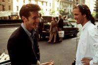 STATE OF GRACE, Sean Penn and director Phil Joanou on location, 1990