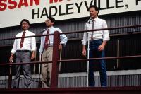 GUNG HO, Gedde Watanabe, Michael Keaton, 1986. (c) Paramount Pictures.
