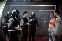 NO ESCAPE, Martin Campbell directing Ray Liotta & cast, 1994