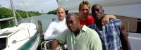 2 FAST 2 FURIOUS, Producer Neal Moritz, director John Singleton, Paul Walker, Tyrese on the set, 2003, (c) Universal