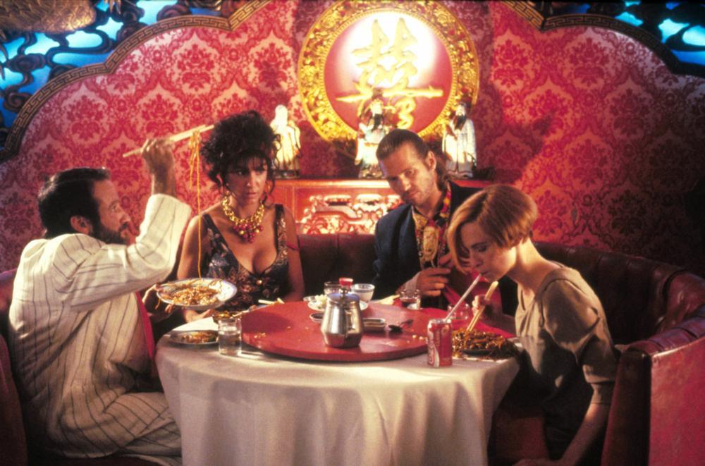 THE FISHER KING, from left: Robin Williams, Mercedes Ruehl, Jeff Bridges, Amanda Plummer, 1991, Columbia Pictures