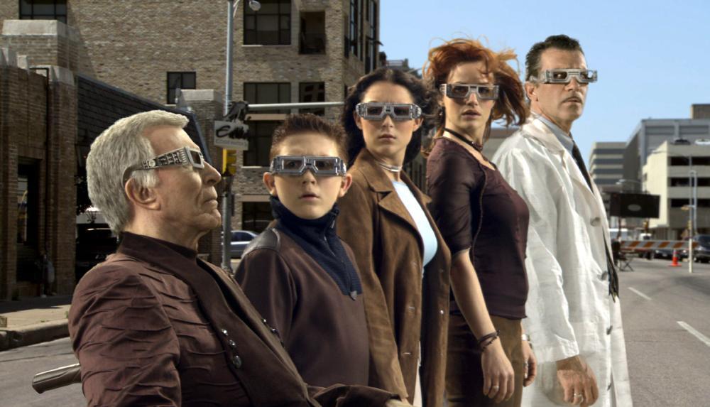 SPY KIDS 3-D: GAME OVER, Ricardo Montalban, Daryl Sabara, Alexa Vega, Carla Gugino, antonio Banderas, 2003, (c) Dimension Films