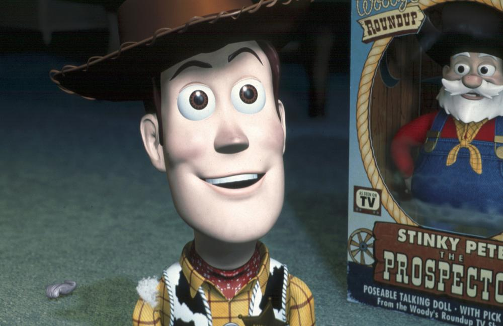 TOY STORY 2, Woody (Tom Hanks) and Stinky Pete the Prospector (Kelsey Grammer), 1999