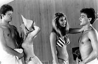 FRATERNITY VACATION, Tim Robbins, Barbara Crampton, Kathleen Kinmont, Cameron Dye, 1985.