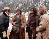 YOUNG GUNS, Christopher Caine, Casey Siemaszko, Lou Diamond Philips, Kiefer Sutherland, 1988.