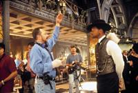 WILD WILD WEST, Director, Barry Sonnenfeld, directs Will Smith, in a scene, 1999.