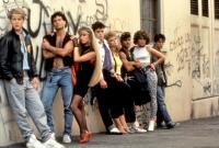 TUFF TURF, (l-r): James Spader, Paul Mones, Kim Richards, Robert Downey Jr., 1985, (c)New World Pictures