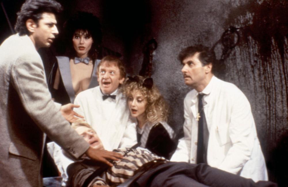 TRANSYLVANIA 6-5000, Jeff Goldblum, Geena Davis, Ed Begley Jr., Carol Kane, 1985, © New World Pictures