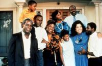TO SLEEP WITH ANGER, Danny Glover, Richard Brooks, Devaughn Walter Nixon (top left), Sheryl Lee Ralph, Paul Butler (top right), 1990, (c)Samuel Goldwyn Films
