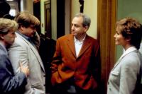 TOMMY BOY, David Spade, Chris Farley, producer Lorne Michaels, Bo Derek, on set, 1995. ©Paramount Pictures