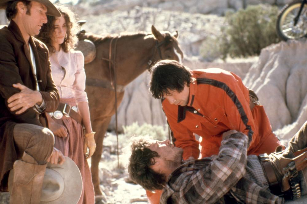TIMERIDER: THE ADVENTURE OF LYLE SWANN, Belinda Bauer (second from left), Fred Ward(top right), 1982, (c)Jensen Farley Pictures