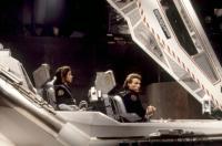 TIMECOP, Gloria Reuben, Jean-Claude Van Damme, on set, 1994, (c)MCA Universal Pictures