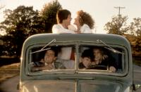 THREE FOR THE ROAD, Charlie Sheen, Alan Ruck, Keri Green, Blair Tefkin, Sally Kellerman, 1987, (c)New Century Vista Films
