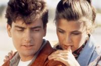 THREE FOR THE ROAD, Charlie Sheen, Kerri Green, 1987, (c)New Century Vista Films
