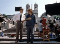 THE TALENTED MR. RIPLEY, Matt Damon,  director Anthony Minghella, on set, 1999. ©Paramount Pictures.