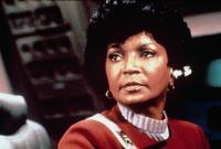 STAR TREK II: THE WRATH OF KHAN, Nichelle Nichols, wearing her communications ear piece, 1982. (c)Paramount..