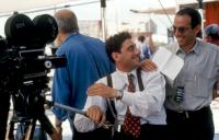 THE STAR MAKER (AKA L'UOMO DELLE STELLE), Sergio Catellitto, director Guiseppe Tornatore, on set, 1995. ©Miramax©Miramax