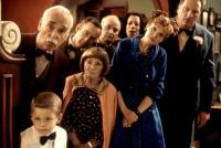 STUART LITTLE, (rear l-r): Harold Gould, Patrick O'Brien, Brian Doyle-Murray, Allyce Beasley, (front l-r): Jonathan Lipnicki, Estelle Getty, Connie Ray, Jeffrey Jones, 1999, (c)Columbia Pictures