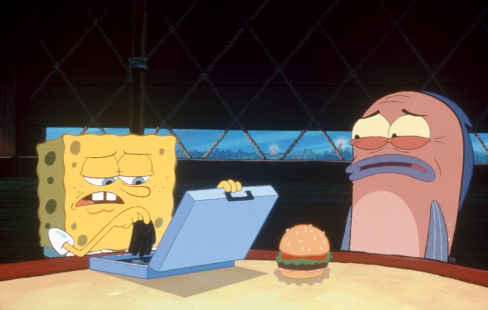 THE SPONGEBOB SQUAREPANTS MOVIE, left: SpongeBob SquarePants (voice: Tom Kenny), 2004. (c) Paramount