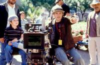 SPY KIDS, director Robert Rodriguez (center right), on set, 2001. ©Miramax