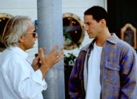 SPEED, director Jan de Bont, Keanu Reeves, on set, 1994,  TM and Copyright ©20th Century Fox Film Corp. All rights reserved.