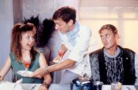 ROSALIE GOES SHOPPING, John Hawkes (center), Alex Winter (r.), 1989, (c)Vidmark Entertainment