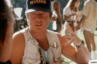 REVENGE, director Tony Scott, on set, 1990. ©Columbia Pictures.