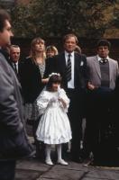 RAINING STONES, center to right: Julie Browm (jacket over dress), Gemma Phoenix (white dress), Bruce Jones (necktie), Ricky Tomlinson (jacket over sweater), 1993, (c) Northern Arts Entertainment