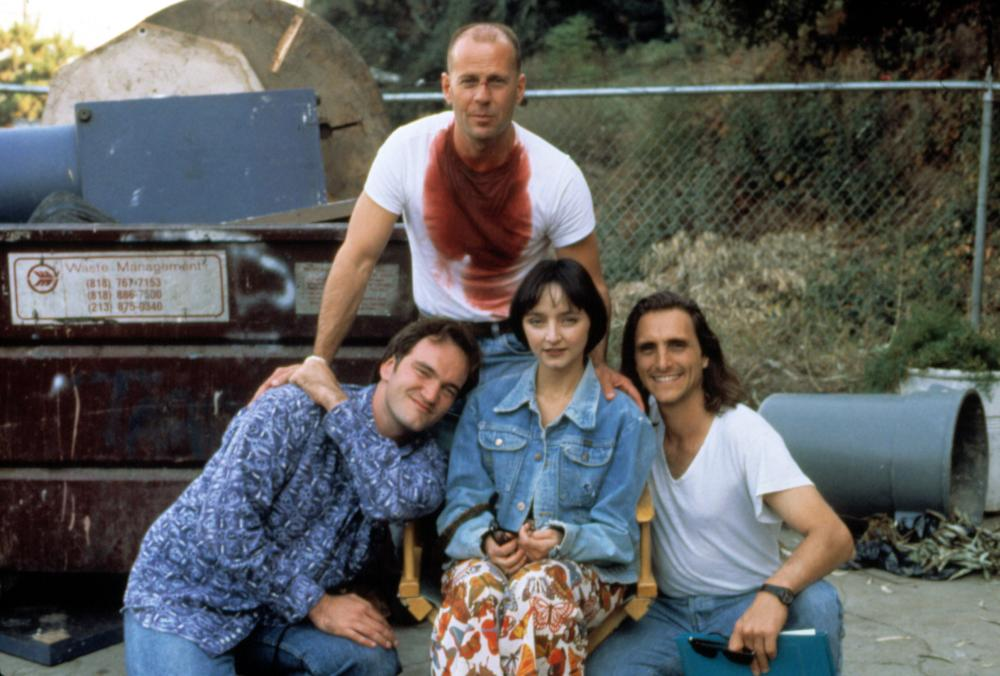 PULP FICTION, Quentin Tarantino, Bruce Willis, Maria de Medeiros, Lawrence Bender, 1994