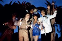 PRIVATES ON PARADE, (front), Joe Melia, Nicola Pagett, Bruce Payne, 1982, (c) Orion