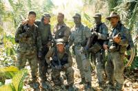 PREDATOR, Shane Black, Sonny Landham, Arnold Schwarzenegger, Richard Chaves, Carl Weathers, Bill Duke, Jesse Ventura, 1987. TM and Copyright (c) 20th Century Fox Film Corp. All rights reserved..