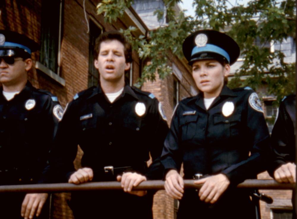 POLICE ACADEMY, David Graf, Steven Guttenberg, Kim Cattrall, 1984. ©Warner Bros.