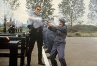 POLICE ACADEMY 4: CITIZENS ON PATROL, Marion Ramsey (background), David Graf, Billie Bird, 1987. ©Warner Bros.