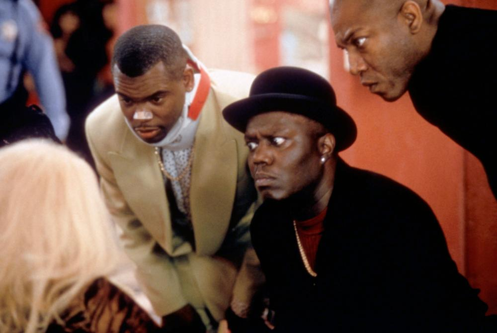THE PLAYERS CLUB, Anthony (a.j.) Johnson, Bernie Mac, Tom 'Tiny' Lister Jr., 1998, (c)New Line Cinema