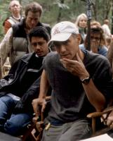 THE PATRIOT, producer Dean Devlin (front left), director Roland Emmerich (front right), on set, 2000. ©Columbia Pictures